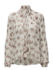Floral Necktie Blouse - EUCLID FLORAL CRE