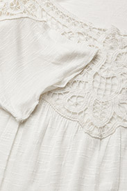 ... Lace-Trim Jersey Top