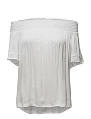 Satin Off-the-Shoulder Top - WHITE