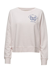 French Terry Graphic Pullover - PETAL PINK ROSE SHIELD