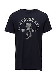 Cotton Jersey Graphic Tee - CLASSIC NAVY FLAT