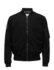 Slim Chino Twill Bomber Jacket - POLO BLACK