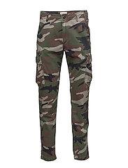 Slim Camo Cotton Cargo Pant - SABRAGE MULTI
