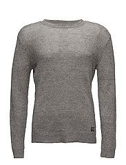 Cotton-Linen Crewneck Sweater - GREY
