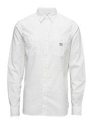 Cotton Oxford Workshirt - WHITE