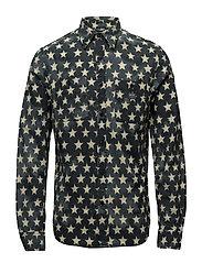 Star-Print Cotton Workshirt - BROOK STAR