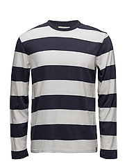 Striped Cotton Long-Sleeve Tee - BOAT STRIPE CL WH