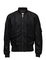 TWILL BOMBER JACKET - POLO BLACK