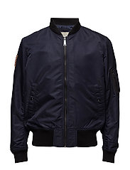 Nylon Bomber Jacket - RL NAVY