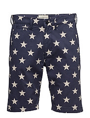 Slim Fit Cotton Chino Short - VIC STAR PRINT