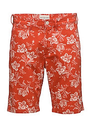 Slim Fit Floral Chino Short - RED FLR PR