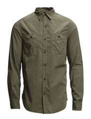 WORK-LONG SLEEVE-SPORT SHIRT - ARMY OLIVE