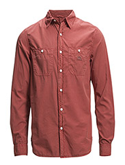 WORK-LONG SLEEVE-SPORT SHIRT - SUMMER RED