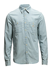 CHAMBRAY-LSL-SPS - LIGHT INDIGO WA