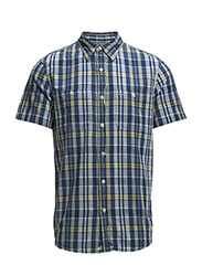 PLAID WOVEN-COTTON SHIRT - SAGAMORE PLAID