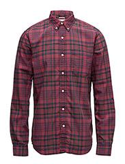 Patchwork Plaid Oxford Shirt - HAVERFIELD
