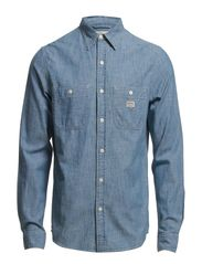 LS UTILITY WORK SHIRT FLAG CUF - SUPPLY WASH