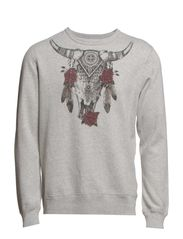 LS CN COW SKULL - GRANITE HEATHER