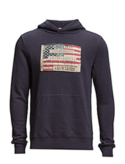 Flag-Patch Cotton Hoodie - CL.NY