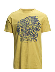 COTTON JERSEY GRAPHIC TEE - FIELD YELLOW BR