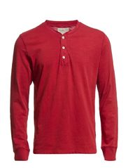 LS HENLEY FLAG PLACKET - SAILOR RED