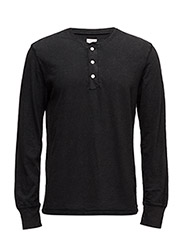 RUGGED JERSEY-LSL-KNT - POLO BLACK