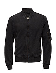 BOMBER-COTTON-JACKET - POLO BLACK