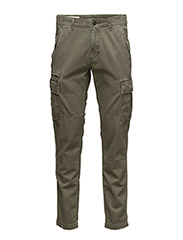SLIM-FIT COTTON CARGO PANT - MARINE CORP OLI