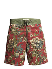 CONTR WB BRD-FLAT-SHORT - ZURI FLORAL RED