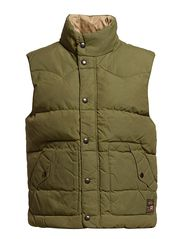 DOWN VEST - ARMY OLIVE