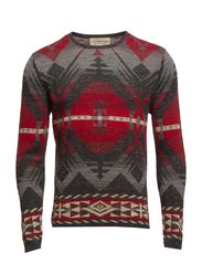 CREWNECK-LONG SLEEVE-SWEATER - MULTI