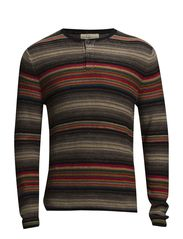 OMBRÉ STRIPED SWEATER - OMBRE STRIPE
