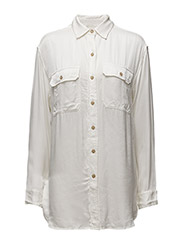 HUNTER MLTRY-LONG SLEEVE-SHIRT - ANTIQUE CREAM