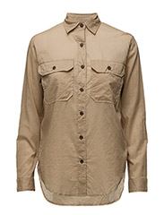 SURPLUS BF-LONG SLEEVE-SHIRT - VINTAGE KHAKI