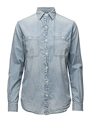 BF UTILITY-LONG SLEEVE-SHIRT - FADED INDIGO WA