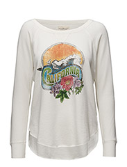 OP NECK SW-LONG SLEEVE-KNIT - ANTIQUE CREAM C