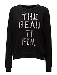 Oversized Sweatshirt Top - POLO BLACK THE