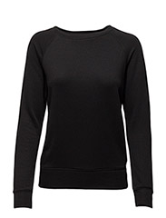 FLEECE CREWNECK SWEATSHIRT - POLO BLACK