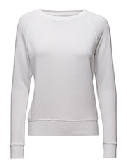 FRENCH TERRY SWEATSHIRT - WHITE