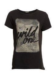 SS DRAPEY TEE - WILD ONE - POLO BLACK-WILD
