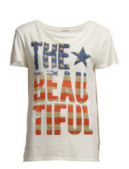 SS DRAPEY TEE BEAUTIFUL FLAG - ANTIQUE CREAM-T