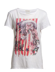 SS DRAPEY TEE BEAUTIFL FLOR - CL OX WHITE/THE