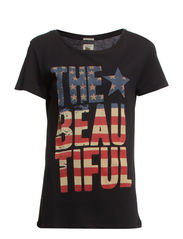 SS DRAPEY TEE BEAUTFUL FLAG - POLO BLACK-THE