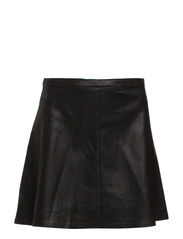 A LINE MINI SKIRT - POLO BLACK