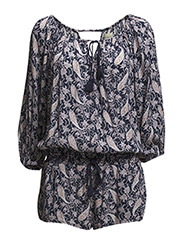 OTS ROMPER-LONG SLEEVE-CASUAL - BALTIC PAISLEY