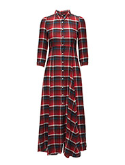 Plaid Button-Front Maxidress - WARWICK PLAID