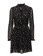 STAR-PRINT SHEER DRESS - NIGHT STAR PRINT