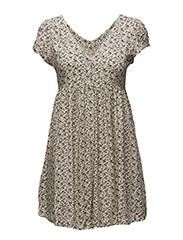 FLORAL BUTTON-FRONT DRESS - EASTWOOD FLORAL