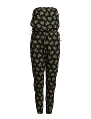 JUMPSUIT SLEEVLESS DRESS - FEATHER FLORAL