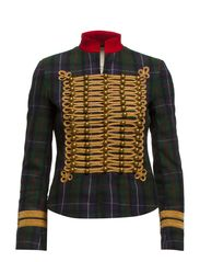OFFICER-WOOL-JACKET - HIGHLAND PLAID